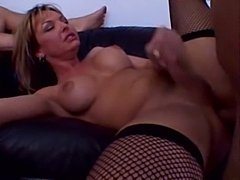 Crazy threesome act with a titty ladyboy