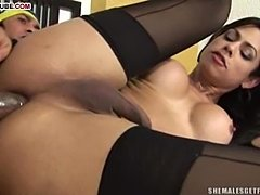 Luxurious Latina TS Pornstar Gets Slammed