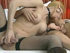 Blonde In Stockings Ass Rammed &amp; Creampied