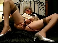 Mature Bitch Masturbating Using Sex Toys