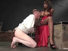 White slave for black TS