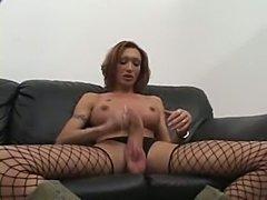 Big cock Mariana stripping and masturbating