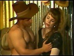 Vintage cowboy eats a Tgirl