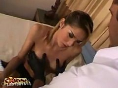 Big tit ladyboy banged hard