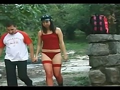 Guy, girl and a tranny fuck in the middle of nowhere