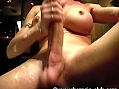 Monster TS Dick In Bath