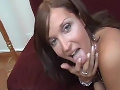 Crazy sex with a skilful at sucking Tgirl