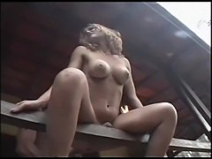 Banged Ladyboy Catching Cumshot
