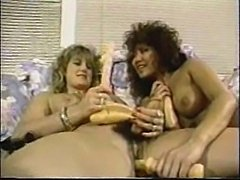 Long dildos for a vintage TS