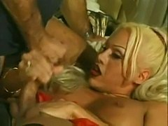 Filthy TS Blonde Gets Toy & Dong Inside
