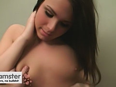 Teen Tgirl Ashley Blowjob and Facial POV