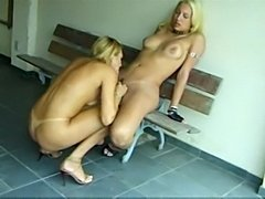 Two blond Tgirls madness