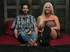 Busty Holly and her slave