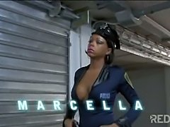 Police tranny Marcella arresting an offender