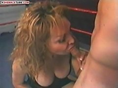 Sex competition between hot shemale and male stud