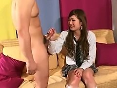 Mutual fuck with asian TS schoolgirl