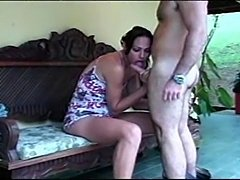 Outdoor fun with a skilful at sucking and hot at fucking TS