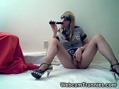 Webcam Ladyboy With A Dildo