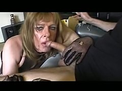 Ugly mature cd sucks prick