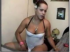 Titty Shemale In Lingerie On Webcam